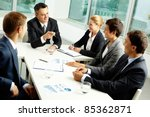 image of confident colleagues... | Shutterstock . vector #85362871