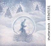 Snow Globe With Snowman. Winter ...
