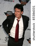 charlie sheen at comedy central'...   Shutterstock . vector #85386031