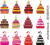 set of cake icons. isolated on... | Shutterstock .eps vector #85386925