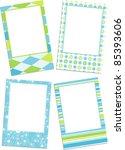 template photo frames  vector... | Shutterstock .eps vector #85393606