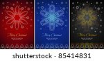 three various color backgrounds ... | Shutterstock .eps vector #85414831