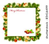 christmas card background.... | Shutterstock .eps vector #85416499