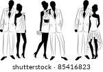 illustration of beautiful bride ... | Shutterstock . vector #85416823
