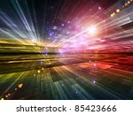 interplay of abstract lights... | Shutterstock . vector #85423666