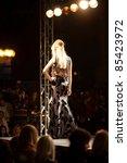 prague september 24  a model... | Shutterstock . vector #85423972