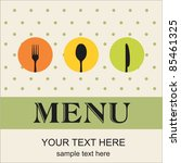 restaurant menu | Shutterstock .eps vector #85461325