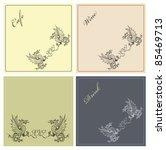 dragon illustration set | Shutterstock . vector #85469713