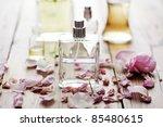 selection of perfume bottles... | Shutterstock . vector #85480615