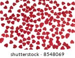 many red hearts on white... | Shutterstock . vector #8548069