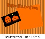 happy jack o lanterns   text... | Shutterstock . vector #85487746