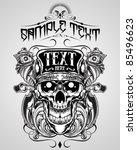 vector illustration   skull t... | Shutterstock .eps vector #85496623