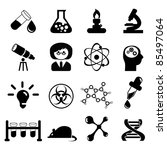 set of science icons ... | Shutterstock .eps vector #85497064