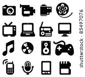 set of multimedia icons  ... | Shutterstock .eps vector #85497076