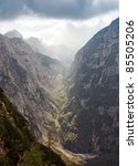 sunlit rock scenery  beautiful... | Shutterstock . vector #85505206