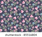 repeat wallpaper pattern with... | Shutterstock . vector #85516804