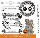 vector halloween pack | Shutterstock .eps vector #85537315