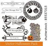 vector halloween pack | Shutterstock .eps vector #85537315