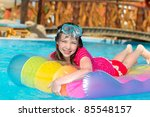 young girl in swimming pool | Shutterstock . vector #85548157