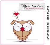 vector illustration of cute...   Shutterstock .eps vector #85550245