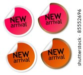 new arrival stickers | Shutterstock . vector #85552696