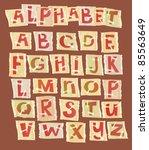 hand drawn alphabet   letters... | Shutterstock .eps vector #85563649