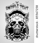 vector illustration   skull t... | Shutterstock .eps vector #85567258