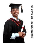 indian graduate | Shutterstock . vector #85568545