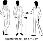 vintage silhouette of man.vector | Shutterstock .eps vector #85574359