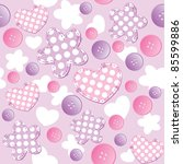 violet seamless pattern with... | Shutterstock .eps vector #85599886