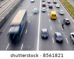traffic with motion blur | Shutterstock . vector #8561821