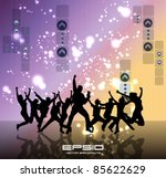 dancing people | Shutterstock .eps vector #85622629