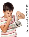 child with a stuffy nose taking ...   Shutterstock . vector #85627117