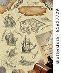 pirate map   Shutterstock . vector #85627729