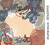 vector postcard consist of... | Shutterstock .eps vector #85635955