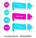 stylish colorful set of labels... | Shutterstock .eps vector #85666681