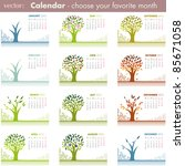 Calendar Pages Isolated On...