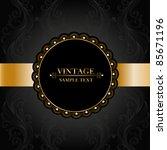 vintage frame. element for...   Shutterstock .eps vector #85671196