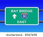 bay bridge interstate 80 sign... | Shutterstock . vector #8567698