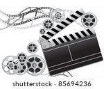 film reel slapstick film... | Shutterstock .eps vector #85694236