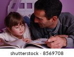 a father and daughter spend... | Shutterstock . vector #8569708