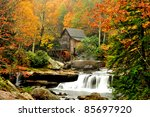 Old Grist Mill In Fall Colors