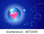 global love / valentine's or wedding / vector Layers are separated - stock vector