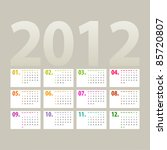 Minimalistic 2012 Calendar...