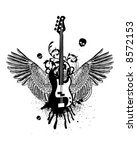 guitar wings | Shutterstock .eps vector #8572153