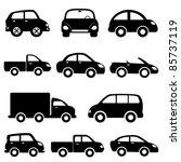 various models cars and trucks... | Shutterstock .eps vector #85737119
