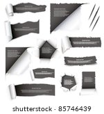 torn paper set | Shutterstock .eps vector #85746439