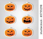 set of vector stickers.... | Shutterstock .eps vector #85755298