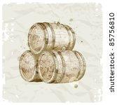 grunge hand drawn wooden... | Shutterstock .eps vector #85756810