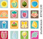 sweet food and drink icons set | Shutterstock .eps vector #85761130